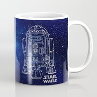 r2d2 Mugs featuring r 2 d 2 by Vickn
