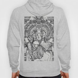 Genish black and white line drawing Hoody