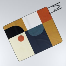 mid century abstract shapes fall winter 4 Picnic Blanket