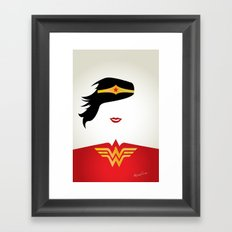 Wonder Girl Framed Art Print