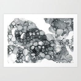 Ink Bubbles Art Print
