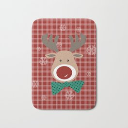 Deer. Patchwork Bath Mat