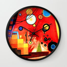 Wassily Kandinsky - Heavy Red - Abstract Art Wall Clock