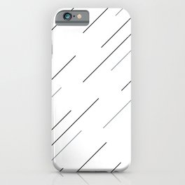 Get in line with a clear start iPhone Case