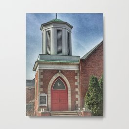 Christ Church Entrance in Moline, Illinois Metal Print