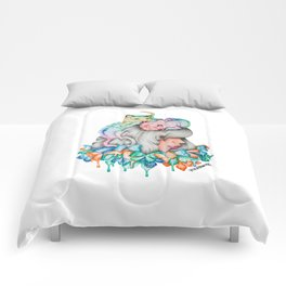 Rainbow Tiger Butterfly Girl Comforters