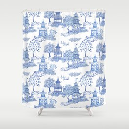Pagoda Leopards Shower Curtain