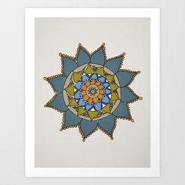 Mandala by Motilal Art Print