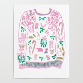 Ugly (but cute) Christmas Sweater Poster