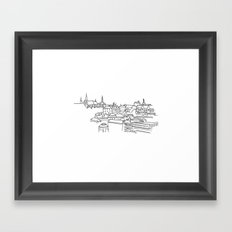 Vyšehrad - View from the castle Framed Art Print