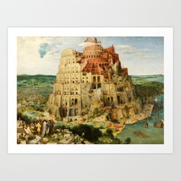 The Tower of Babel by Pieter Bruegel the Elder (1563) Art Print