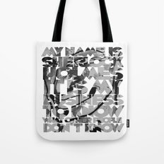 Sherlock Holmes Quote Tote Bag