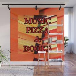 Music Pizza & Books Wall Mural