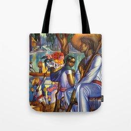Vintage Xochimilco Mexico Travel Tote Bag