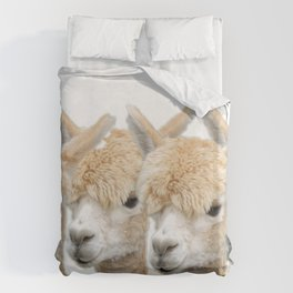 Alpaca Line Up Duvet Cover