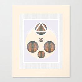 Monkey Head: Circle & Triangle Canvas Print