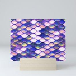 Rose Purple Mermaid Scale Pattern Mini Art Print