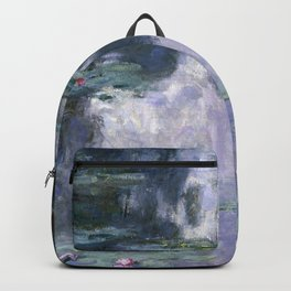 Monet - Water Lilies (Nymphéas), 1907 Backpack