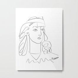 Picasso anti war lady, world war art, world peace Metal Print