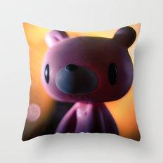 A gloomy Bear ! Throw Pillow