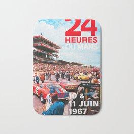 24hs Le Mans 1967, vintage poster Bath Mat