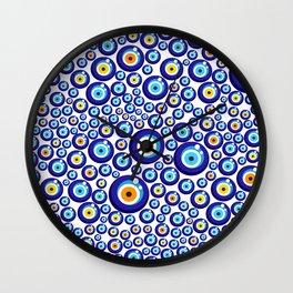 Evil eye pattern Wall Clock