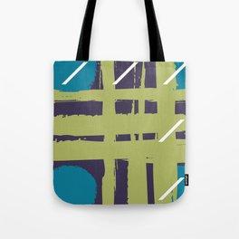 Splash Tartan Abstract Geometric Pattern Tote Bag