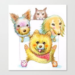Doggies Canvas Print