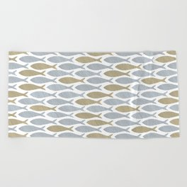 shoal of herring Beach Towel