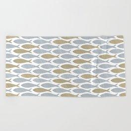 shoal of herring Beach Towel