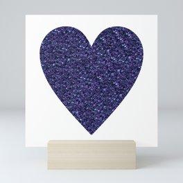 Sparkling Heart blue Mini Art Print