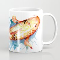 koi Mugs featuring Koi by Sam Nagel