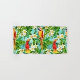 Tropical Parrot Chillin Hand & Bath Towel