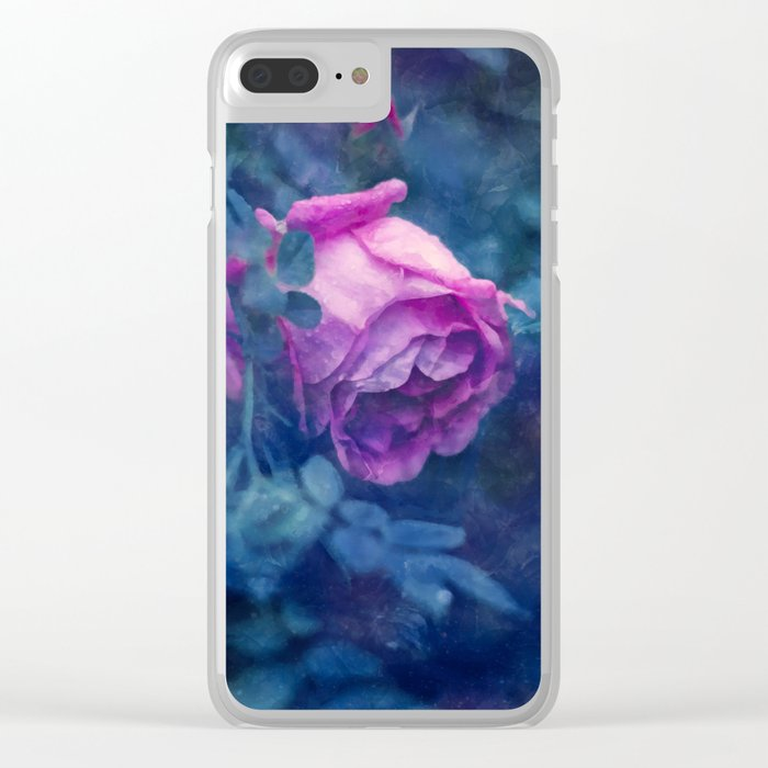 Blooming rose Clear iPhone Case