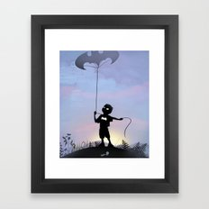 Bat Kid Framed Art Print