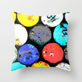 Pop Barrel Throw Pillow
