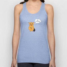 Beatrice. The cat that thinks... Party Unisex Tank Top