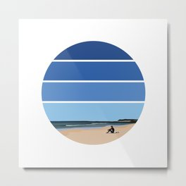 The Surfer's Waiting Game Metal Print