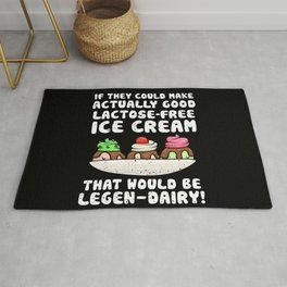 Dairy Free Dairy Allergy Awareness Legen-Dairy Rug