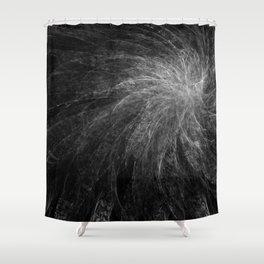 B&W Organic Spiral Shower Curtain