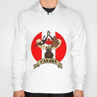 canada Hoodies featuring CANADA by scarah