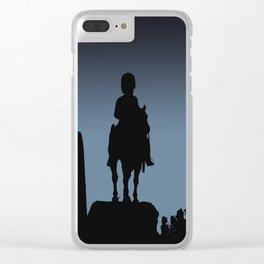 Edinburgh silhouette Clear iPhone Case