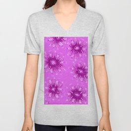 Lavender Christie Rose Unisex V-Neck