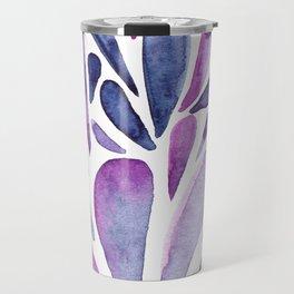 Watercolor artistic drops - purple and indigo Travel Mug