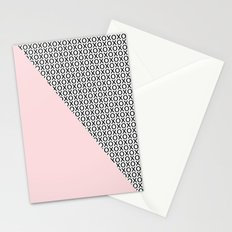 two triangles - blush and small xo Stationery Cards