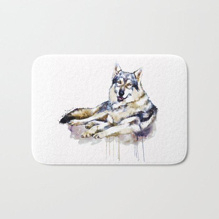 Smiling Wolf Bath Mat