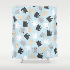 Scattercats Shower Curtain