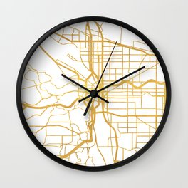 PORTLAND OREGON CITY STREET MAP ART Wall Clock