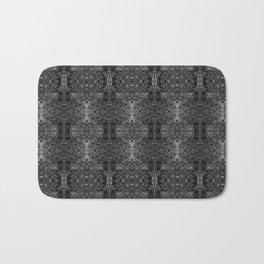 zakiaz blk&gray abstract design Bath Mat