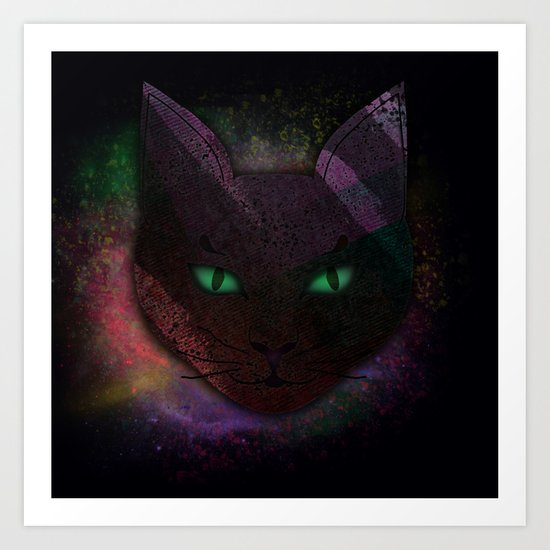 Watching Cat Art Print